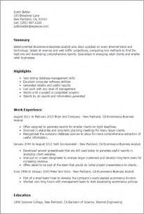 Business analyst ecommerce resume