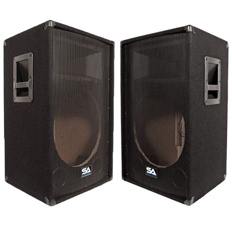 schrank pimpen seismic audio two empty 15 inch pa dj speaker cabinet