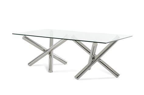 modrest quartz modern rectangular glass dining table