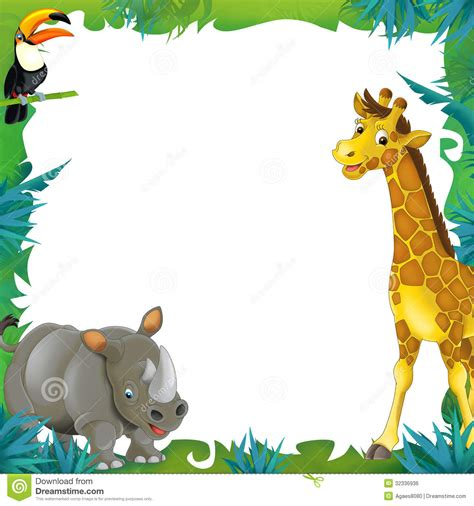 baby jungle animal border clip jungle clipart boarder pencil and in color jungle
