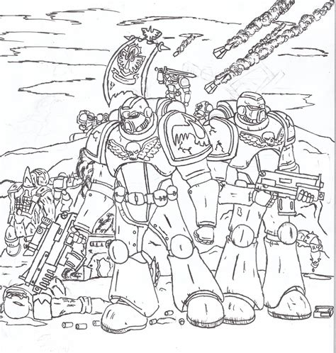 Space Marine Template by Coloring Pages Of Marines Az Coloring Pages