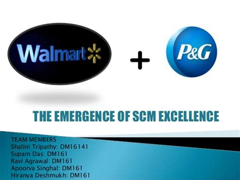 Walmart Mba Supply Chain Intern by Walmart P G The Emergence Of Supply Chain Excellence