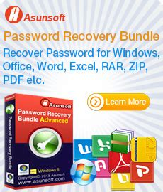 asunsoft windows password reset personal excel password geeker recover lost password for