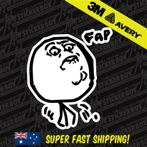 Car Meme Stickers - fap meme sticker decal car meme drift turbo euro fast