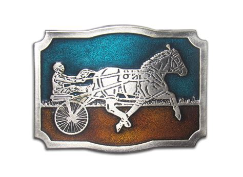 Quot Harness Racing Quot Heavy Cast Epoxy Inlay Buckle Eb2239
