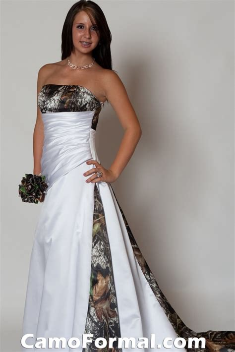 3137 camo and bridal gown camouflage prom wedding