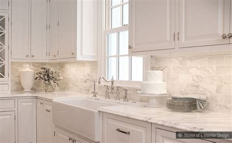subway tile backsplashes for kitchens subway calacatta gold tile backsplash idea backsplash com