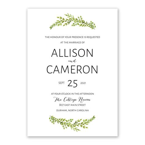 Wedding Invitations Greenery by Watercolor Greenery Invitation Invitations By