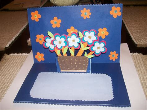 How To Make A Birthday Card Handmade - how to make handmade greeting card in blue color trendy