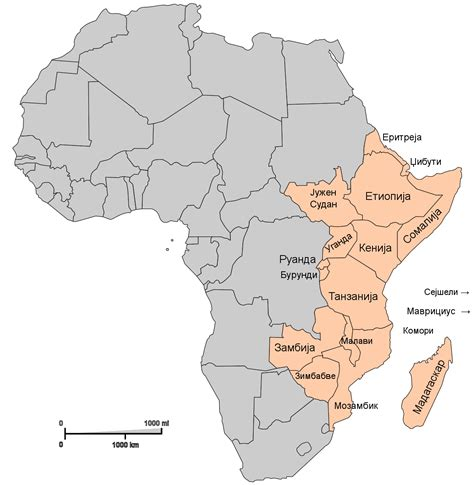 eastern africa map