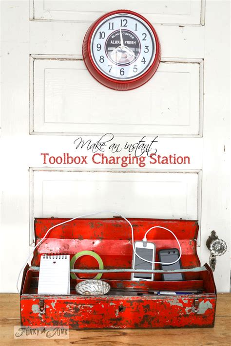 build a charging station make an instant junky toolbox charging stationfunky junk