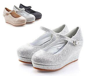 1 inch wedge dress shoes silver pretty glitter wedge heels youth dress shoes size 9