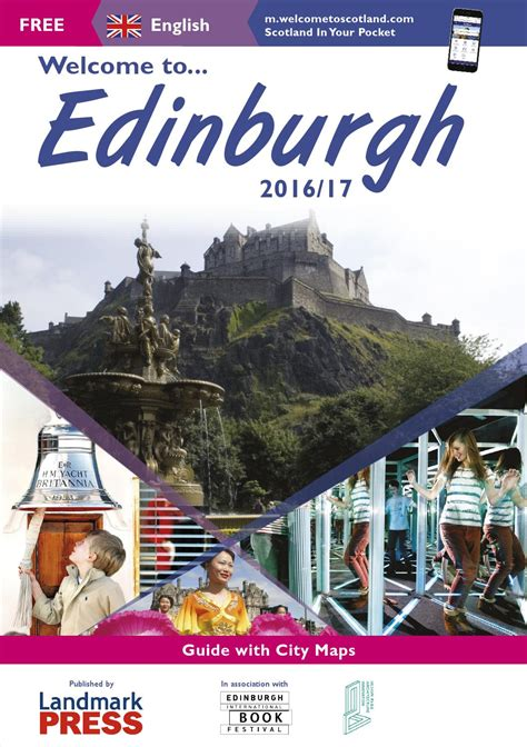 Welcome To Edinburgh I On Readers welcome to edinburgh guide 2016 17 by landmark press issuu