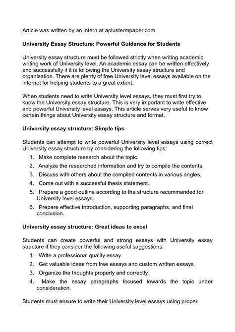 Uni Essay Intro by A Level Essay Writing Top Writing Website