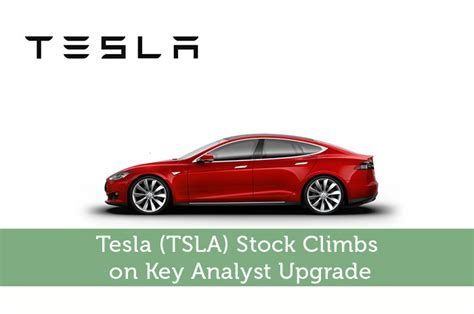 tesla motors stock news tesla tsla stock climbs on key analyst upgrade modest