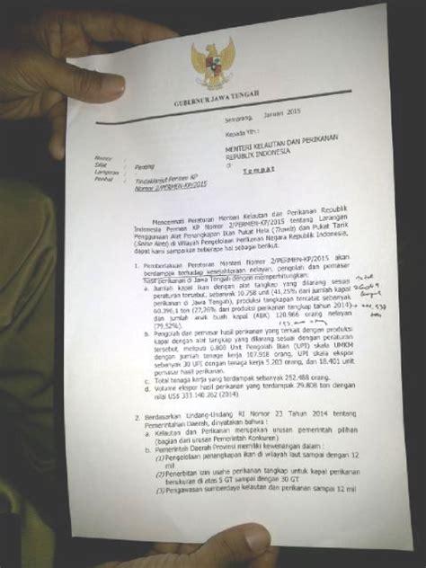 gubernur jateng surati menteri kelautan ini tanggapan kkp
