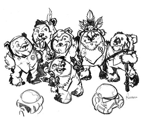 free coloring pages of wars ewok