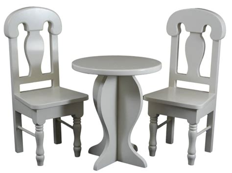 18 Inch Doll Table And Chairs by Cafe Table Chair Set For 18 Inch Dolls Fits 18