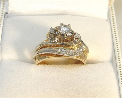 reduced 14k 2 toned gold 0 33ct 6 dia engagement