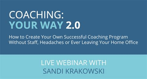 build your own home program coaching your way 2 0 how to create your own successful