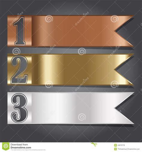 banner design work vector illustration metal flag banner for design and