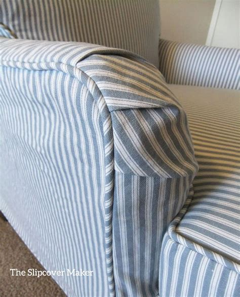 ticking stripe sofa slipcover 371 best images about reupholstery on pinterest miss
