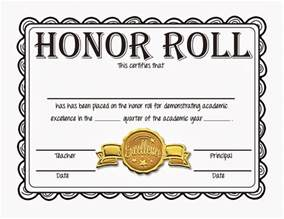 certificate of honor template honor roll certificate template best and various