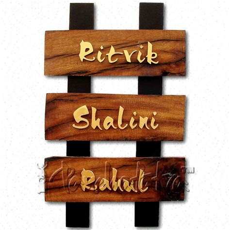 home name plate design online buy decorative creative nameplate design with 3 names