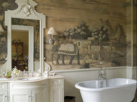 bathroom wallpaper india de gournay at home in new york