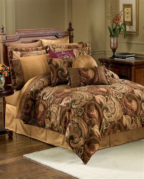 Croscill Townhouse Comforter by Burgess Cognac Bedding Ensemble By Croscill Townhouse Linens