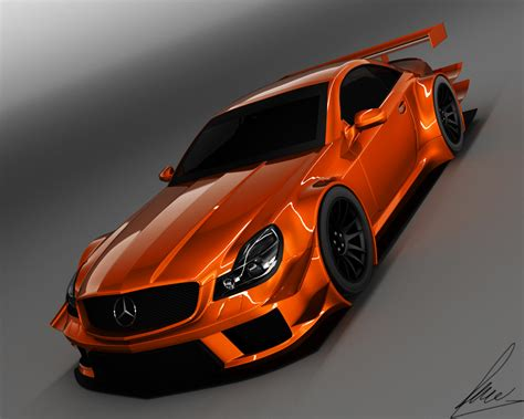 orange mercedes mercedes sl 63 amg dtm orange by jesterv2 on deviantart