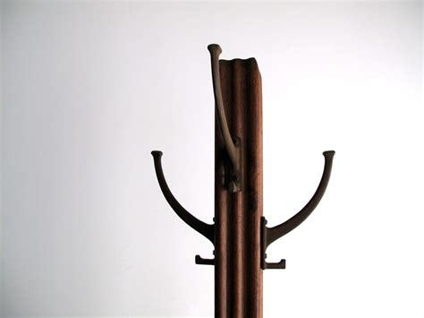 Antique Standing Coat Rack by Vintage Mission Style Coat Rack Wood Standing By