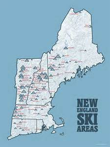 us east coast ski resorts map new ski resorts map 18x24 poster resorts maps