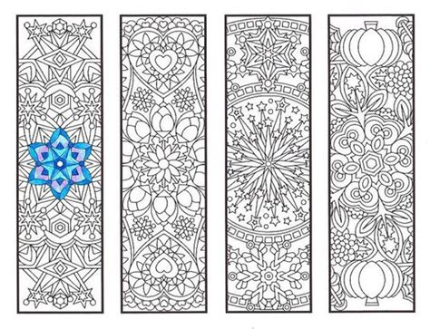 printable bookmarks adults coloring bookmarks cool weather mandalas coloring page