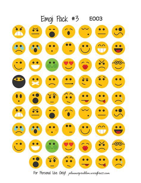 emoji pack emoji pack 3 free printable planner stickers
