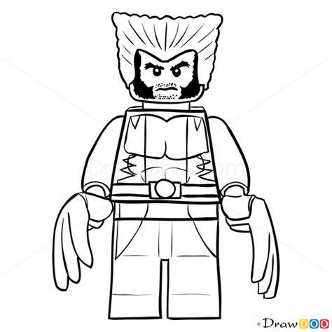 wolverine lego coloring page how to draw wolverine lego super heroes