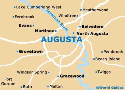 augusta maps  orientation augusta georgia ga usa