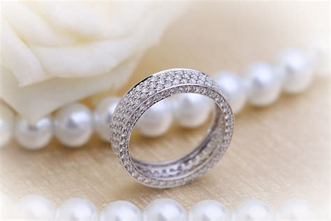 eternity ring set wedding ring for in