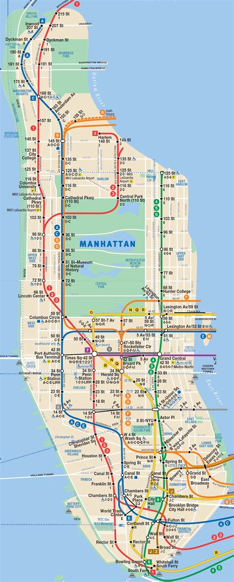 manhattan subway map subway map of manhattan with streets 28 images
