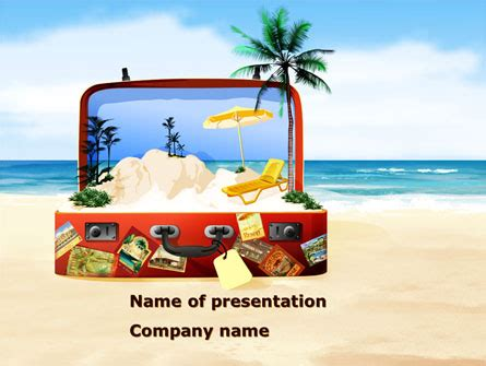 Vacation Suitcase Presentation Template For Powerpoint And Keynote Ppt Star Vacation Powerpoint Presentation Templates