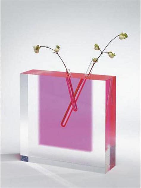 Acrylic Flower Vase by Acrylic Flower Vase 3 By Shiro Kuramata Ishimaru