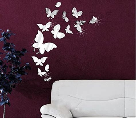 butterfly mirror wall stickers butterfly wall stickers 3d wall and acrylics on