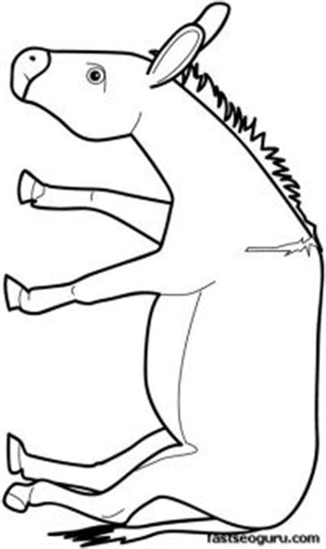 donkey ears coloring page donkey ear template nativity costumes pinterest