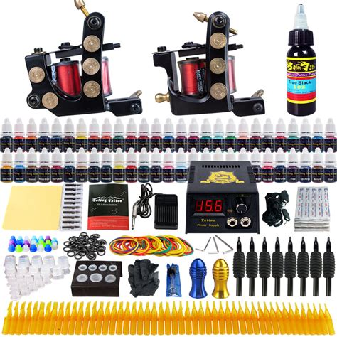 tattoo guns and supplies solong complete kit 2 machine gun 54 ink