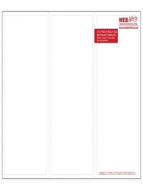 4 fold brochure template word a4 brochure template 2 free templates in pdf word excel