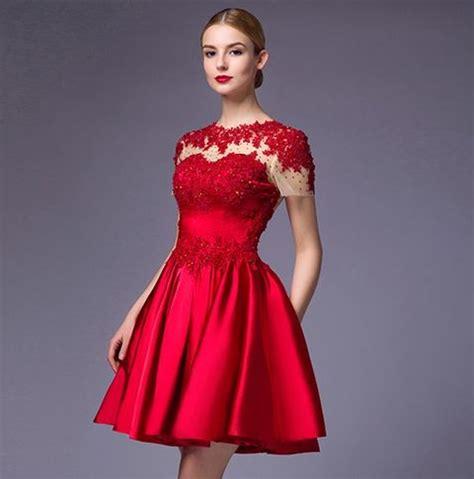 vestidos rojos de encaje cortos vestidos de rojos cortos
