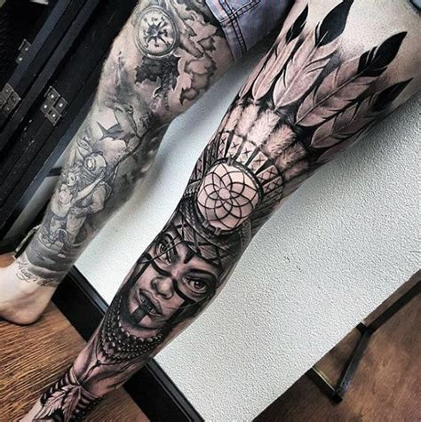 leg sleeve tattoos for men sweet and spicy bacon wrapped chicken tenders tattoooos