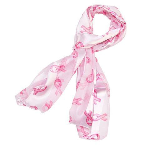 breast cancer awareness ribbons scarf black pink at