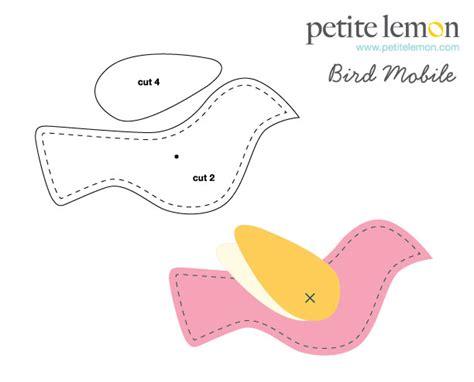 bird mobile template stuffed bird pattern patterns gallery