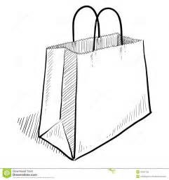 sketch online free shopping bag sketch royalty free stock images image